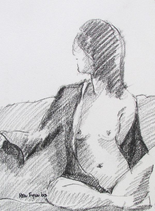 Girl In Silk Gown
