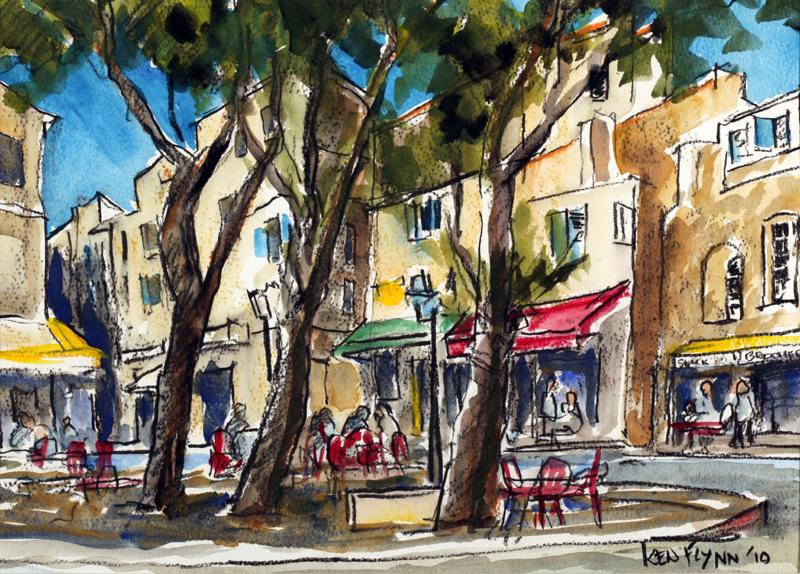 Village in Provence I, France