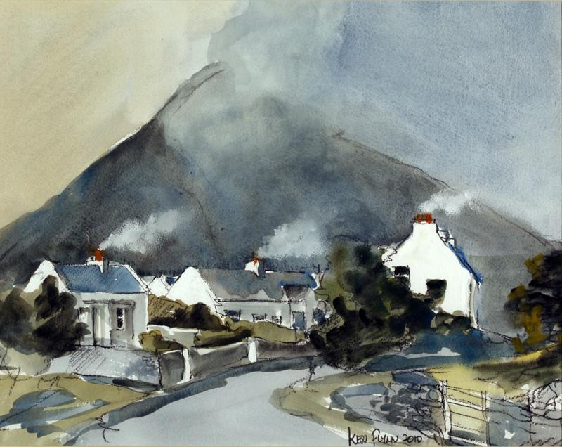 Mist on Slievemore from Dugort, Achill