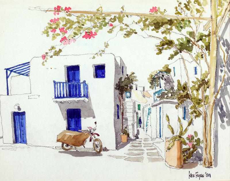 Midday Mykonos Town, Greece