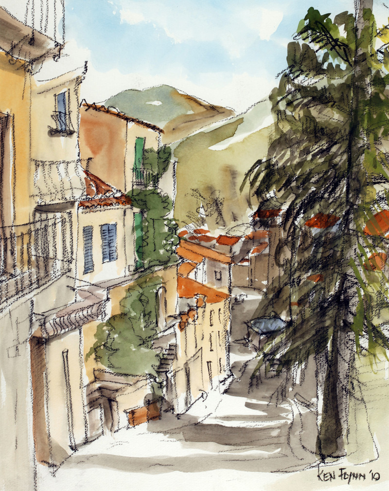 Steep Street in Sicily